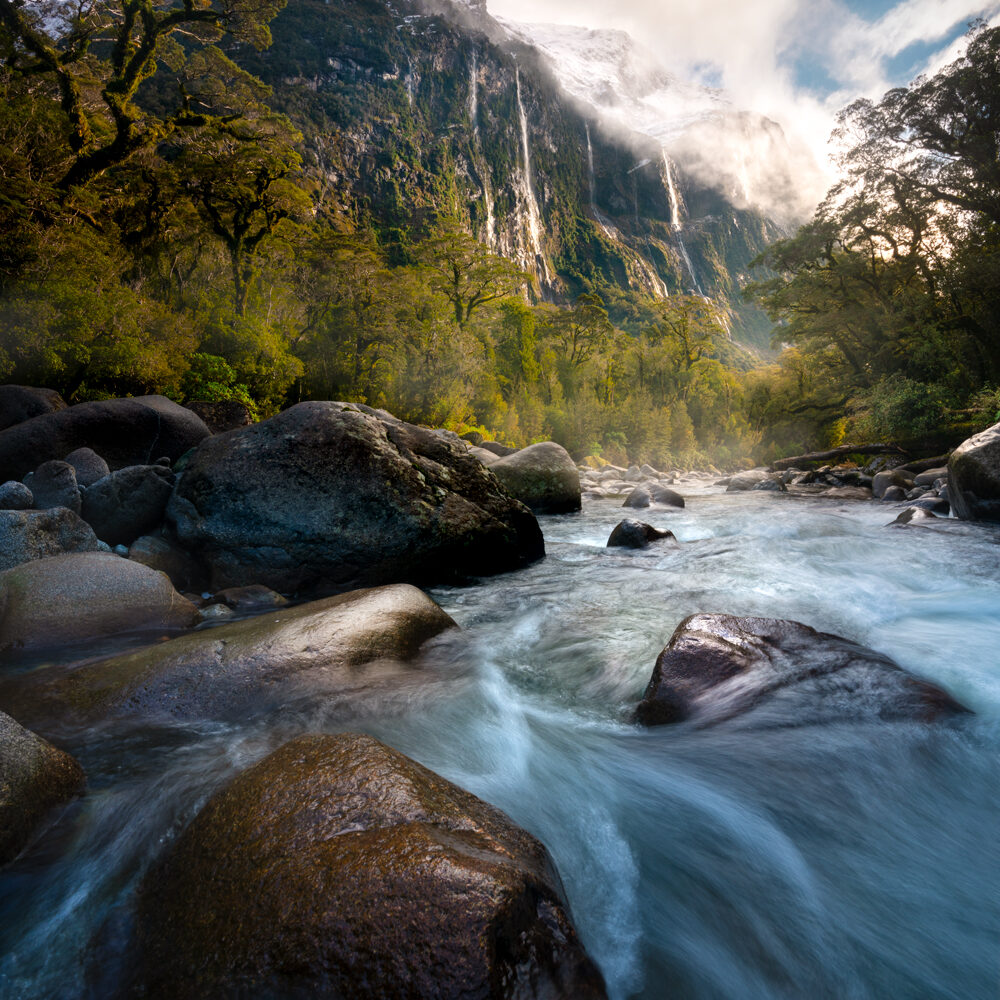 Fiordland waterfalls