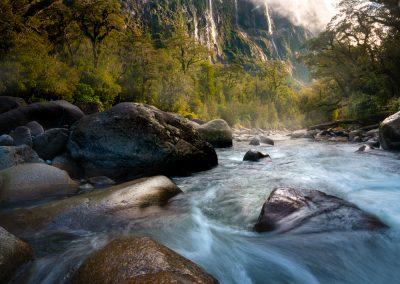 Fiordland waterfalls