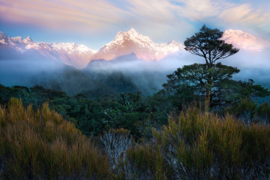 Mount Christina and the Darran Mountains. Fiordland, New Zealand.