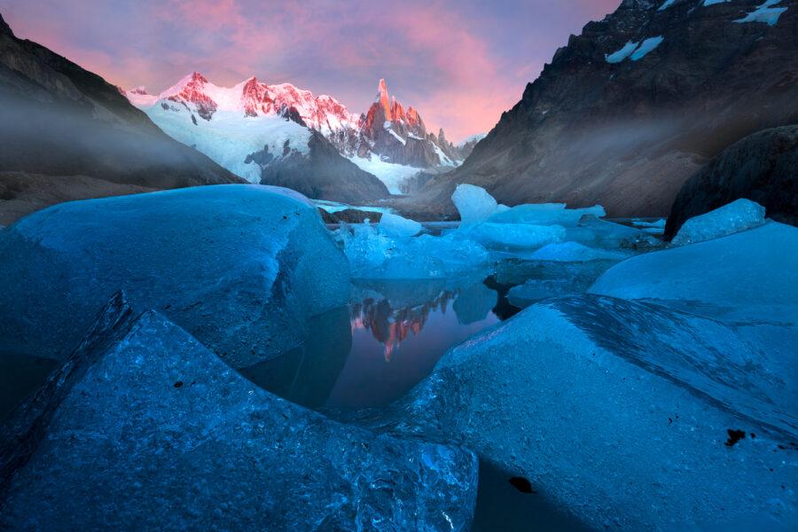 Cerro Torre sunris, Patagonia