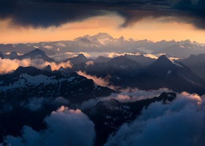 Above the Southern Alps of New Zealand