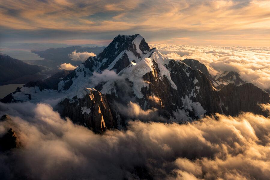 The summit of Aoraki Mt Cook