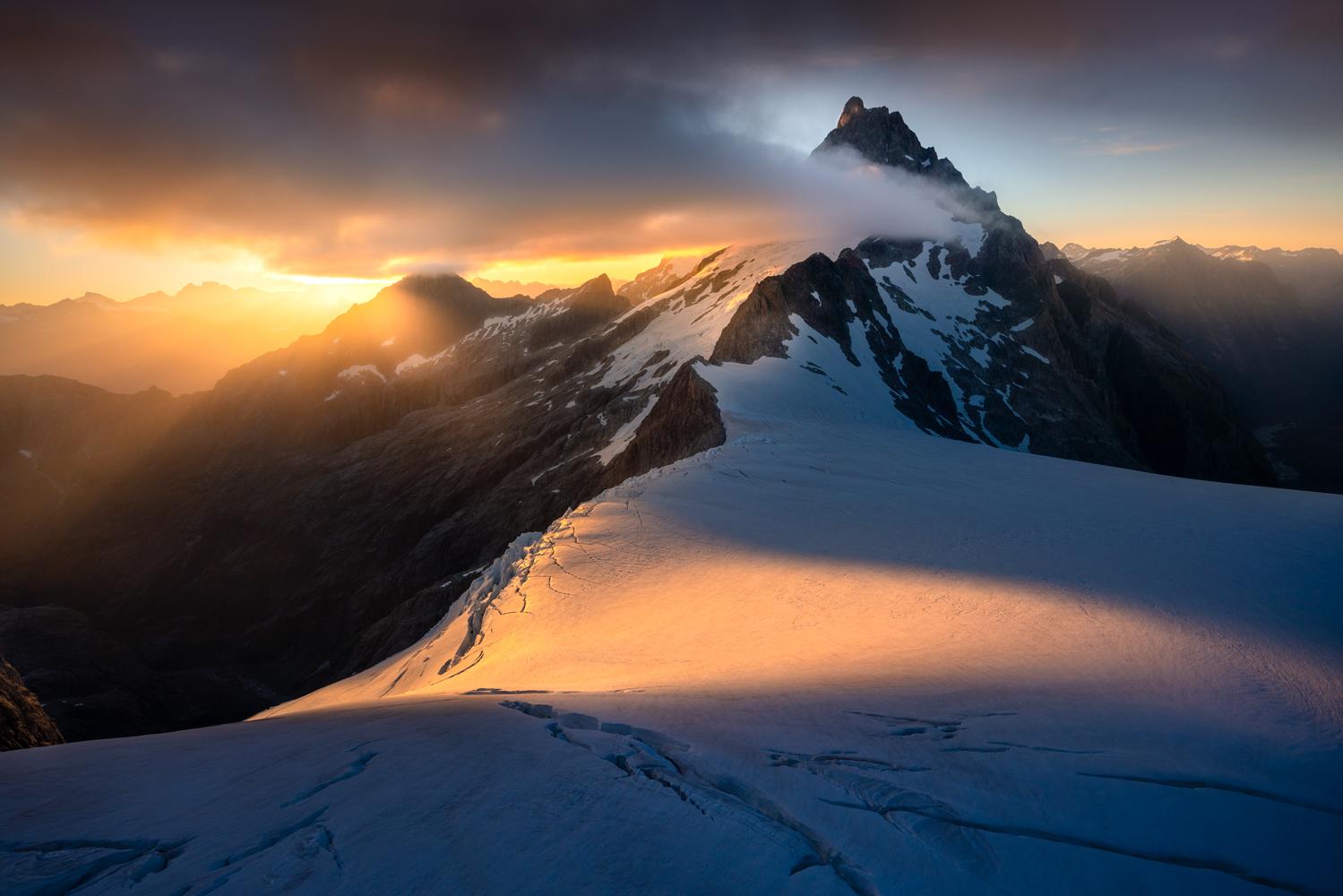 Mount Tutoko sunrise Fiordland