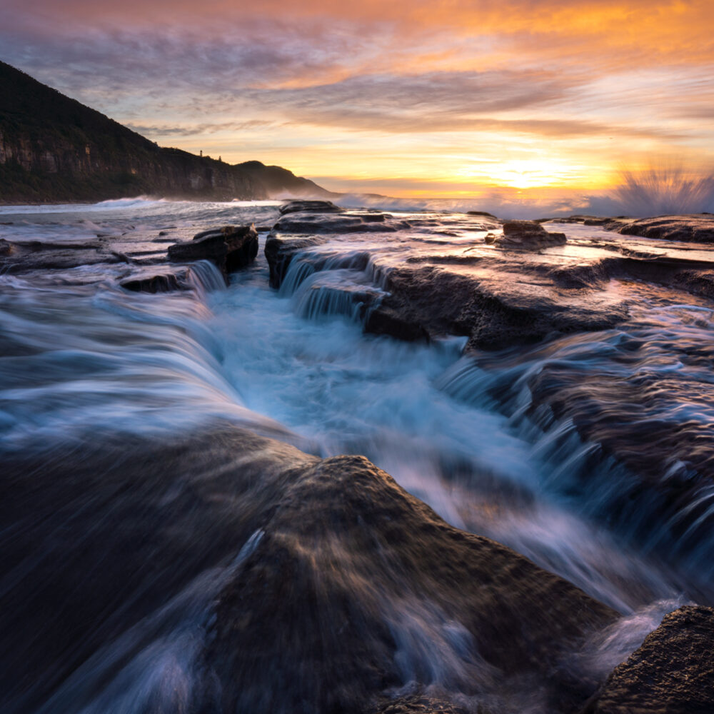 Sunrise at Coalcliff NSW Australia.