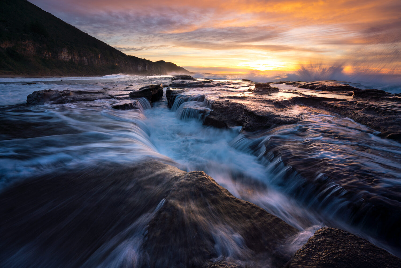 Sunrise at Coalcliff NSW Australia.