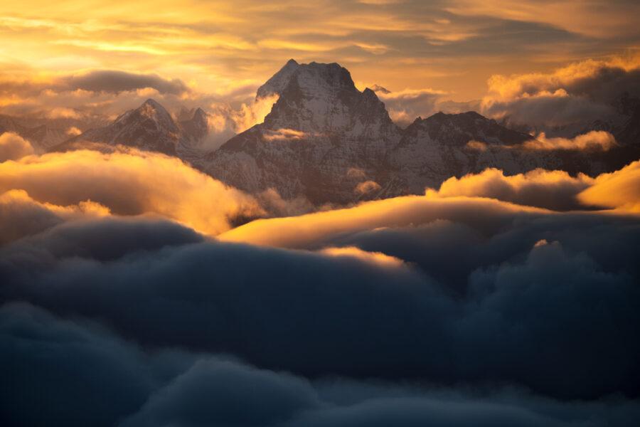 Mount Earnslaw, sunrise New Zealand