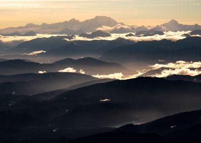 Layered mountains, West Coast New Zealand