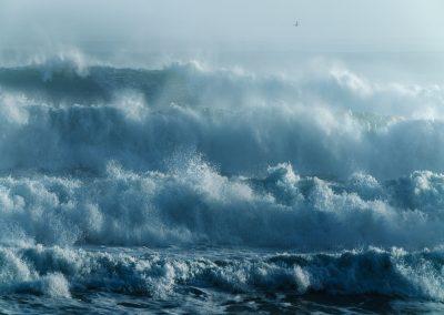 Layers of crashing waves, New Zealand