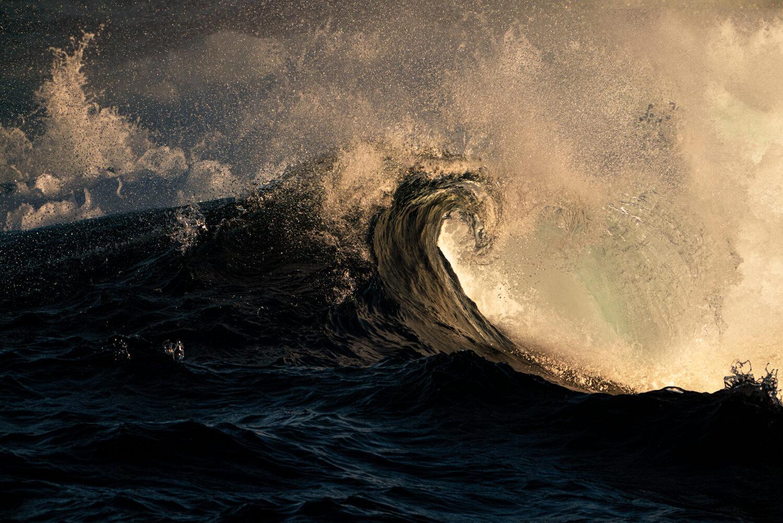 Exploding wave at sunset, NSW Australia
