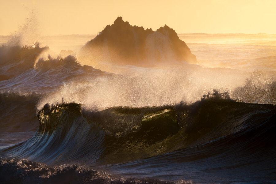 South Coast NSW, crashing waves