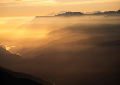 Mountain layers and Mount Cook (Aoraki)
