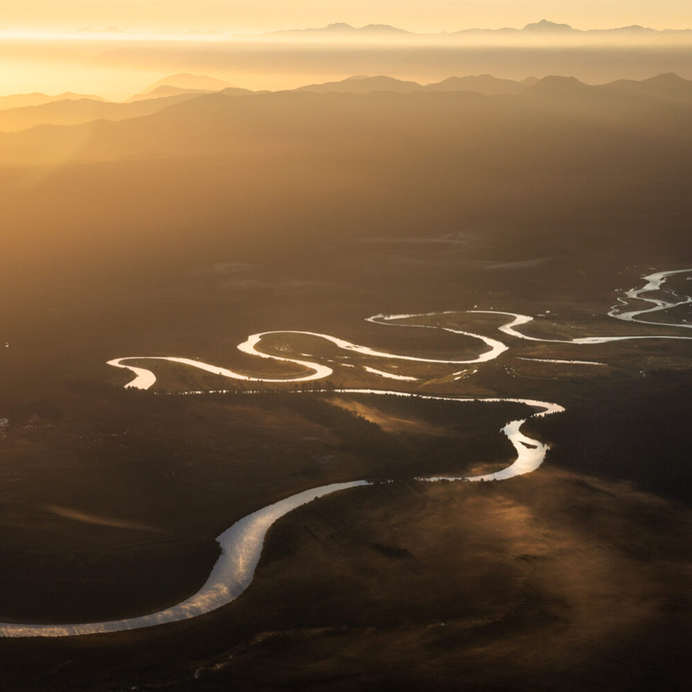 West Coast curved river, New Zealand