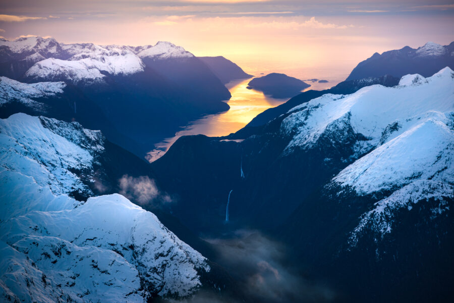 Sunset, Doubtful Sound New Zealand