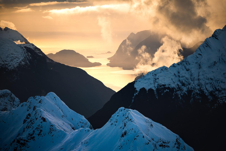 Doubtful Sound sunset, New Zealand