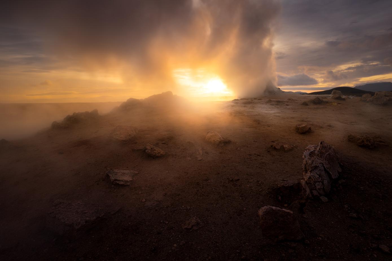 Hverir, geothermal steaming fumarole