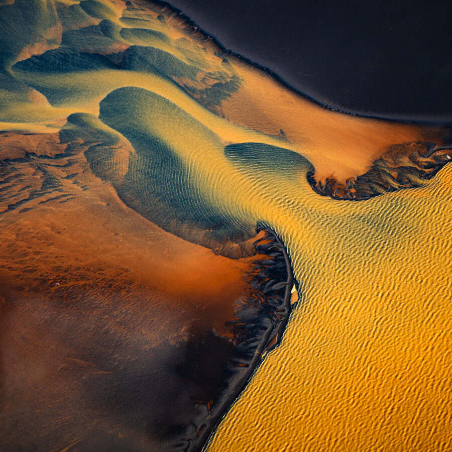 Iceland river aerial
