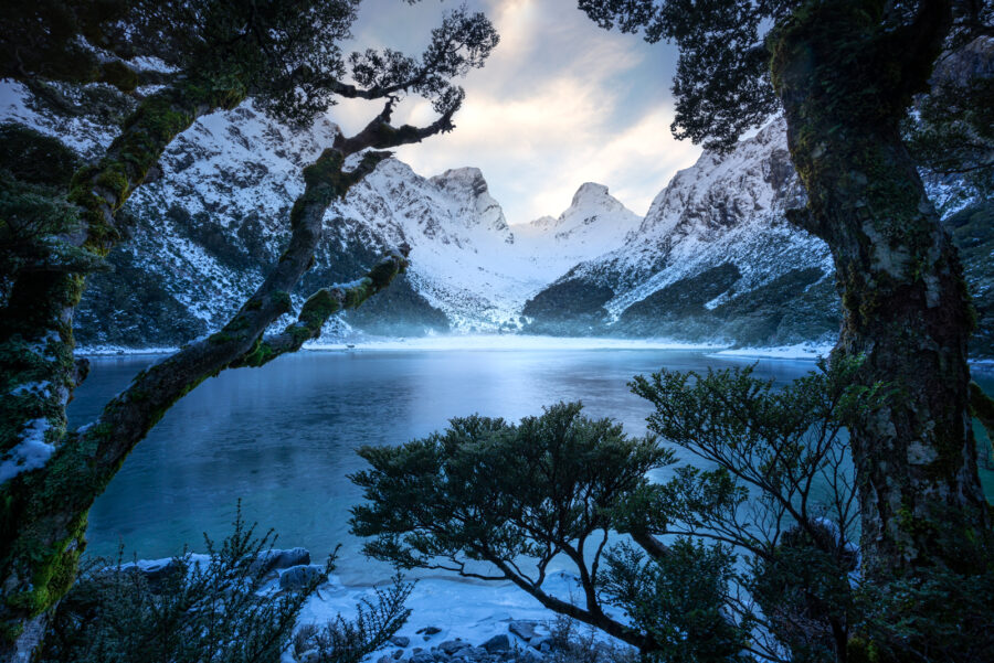 Winter in the Fiordland mountains