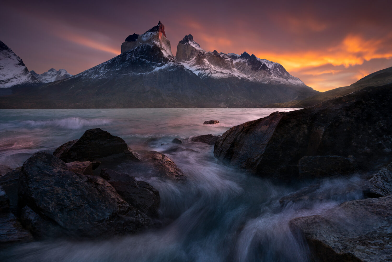 Sunrise in Torres Del Paine Chile