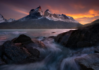 Sunrise in Torres Del Paine Chile