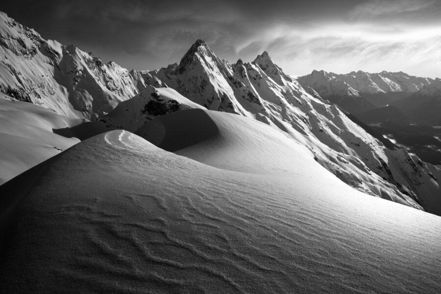Snow mountains New Zealand