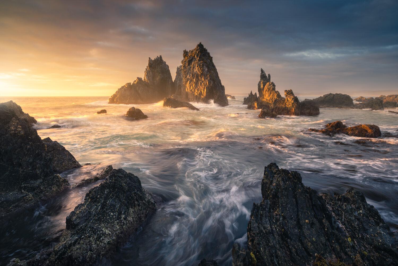 Sunrise by the sea, Bermagui Came lRock Australia