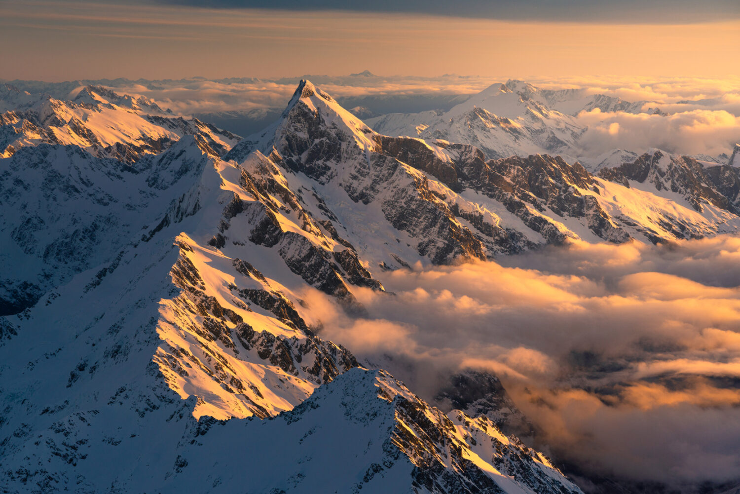 Sunset, Mount Sefton, New Zealand. Photography by William Patino.
