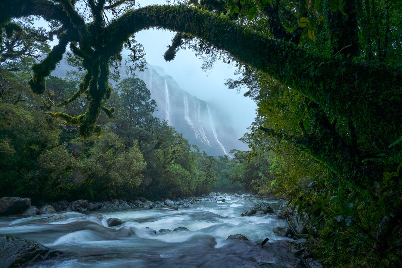 Fiordland rain storm, Copyright William Patino