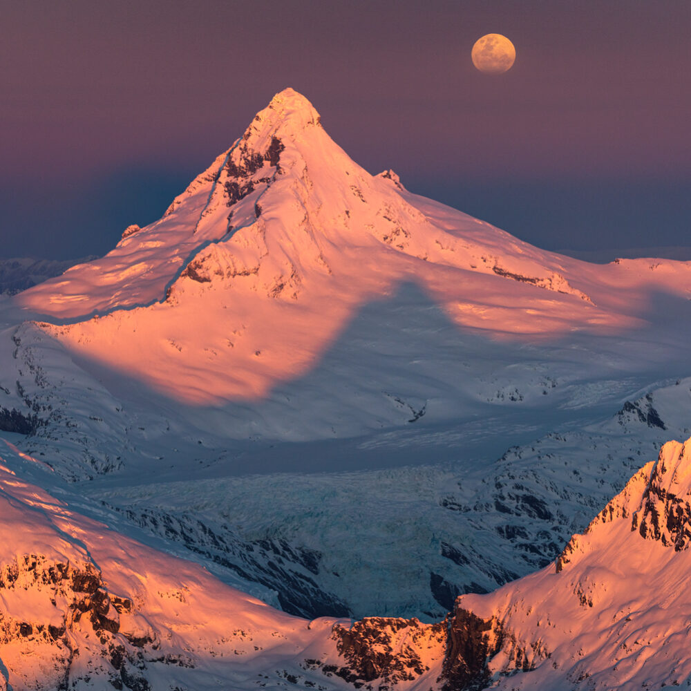 Mount Aspiring Full Moon Rise, Copyright William Patino