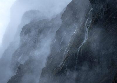 Mountain waterfalls, Copyright William Patino, New Zealand Landscape Photographer