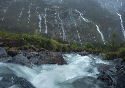 Rain waterfalls, Copyright William Patino, New Zealand Landscape Photographer
