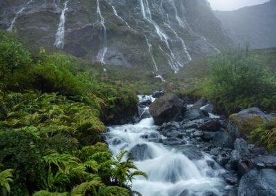 Fiordland waterfalls, Copyright William Patino, New Zealand Landscape Photographer