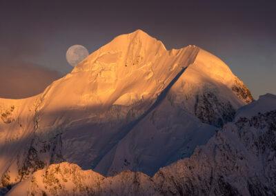 Mount Tasman, Full Moon, Copyright William Patino, New Zealand Landscape Photographer