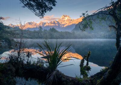 Fiordland, Sunrise New Zealand Southern Alps Copyright William Patino, New Zealand Landscape Photographer
