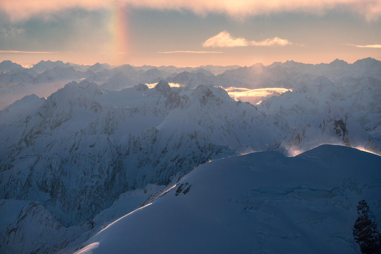 Parhelion, Rainbow, Ice, Copyright William Patino, New Zealand Landscape Photographer
