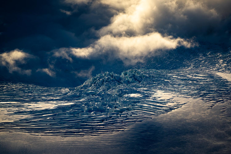 Sunlight and ice. New Zealand glacier