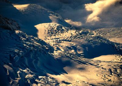 Heavily crevassed glacier in New Zealand