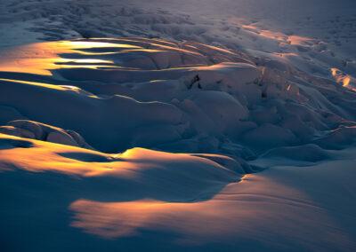 New Zealand Glacier and soft sunset light, copyright William Patino