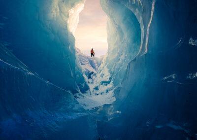 Mountain Guide, Tasman Glacier Ice Cave Copyright William Patino New Zealand