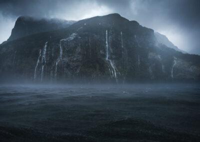 Stormy fiord new zealand