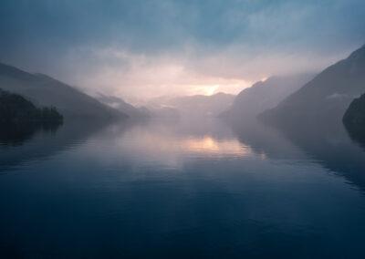 Dusky Sound reflections at dusk