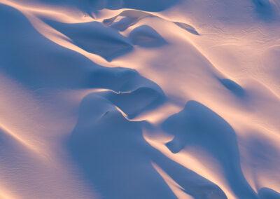Soft light and snow, Fox glacier new zealand
