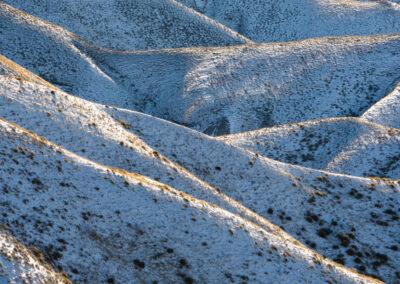 Snow covered ridges, new Zealand