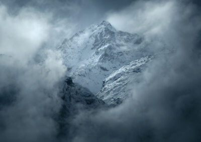 Snowy mountains Fiordland