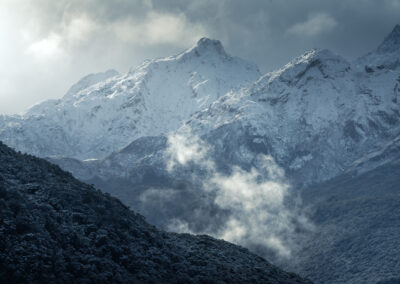 Hollyford valley winter New Zealand winter scene