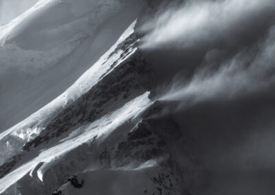 Mountain layers and snow drift