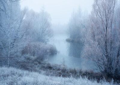 Hoar frost landscape twizel NZ