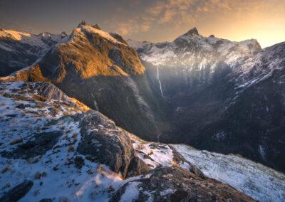 Sutherland Falls, Winter scene New Zealand
