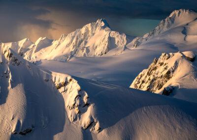 Fresh snow in alpine environment New Zealand